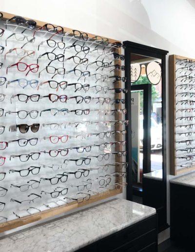 Glasses in bright